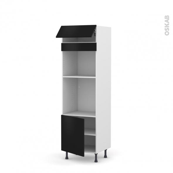 colonne de cuisine n 516 four mo encastrable niche 45 ginko noir 1 abattant 1 porte l60 x h195 x. Black Bedroom Furniture Sets. Home Design Ideas