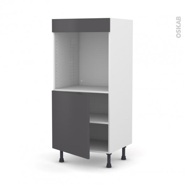 colonne de cuisine n 16 four encastrable niche 60 ginko gris 1 porte l60 x h125 x p58 cm oskab. Black Bedroom Furniture Sets. Home Design Ideas