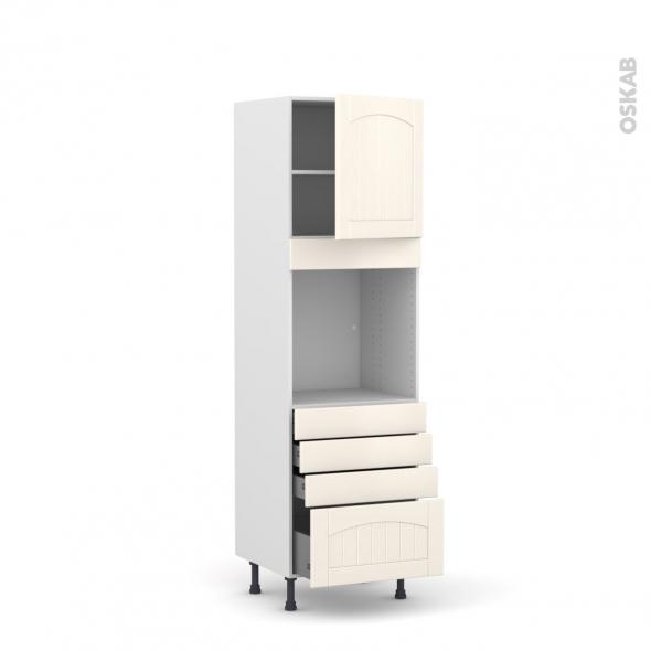Colonne four n 1659 1 porte 4 tiroirs l60xh195xp58 droite for Four porte tiroir