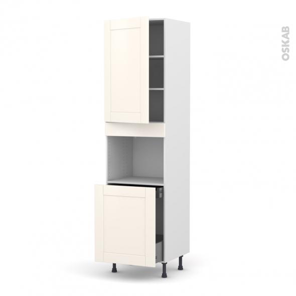 colonne de cuisine n 2416 four encastrable niche 60 filipen ivoire 1 porte 1 porte coulissante. Black Bedroom Furniture Sets. Home Design Ideas