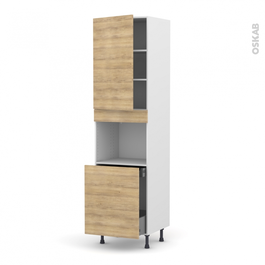 colonne de cuisine n 2416 four encastrable niche 60 hosta ch ne naturel 1 porte 1 porte. Black Bedroom Furniture Sets. Home Design Ideas