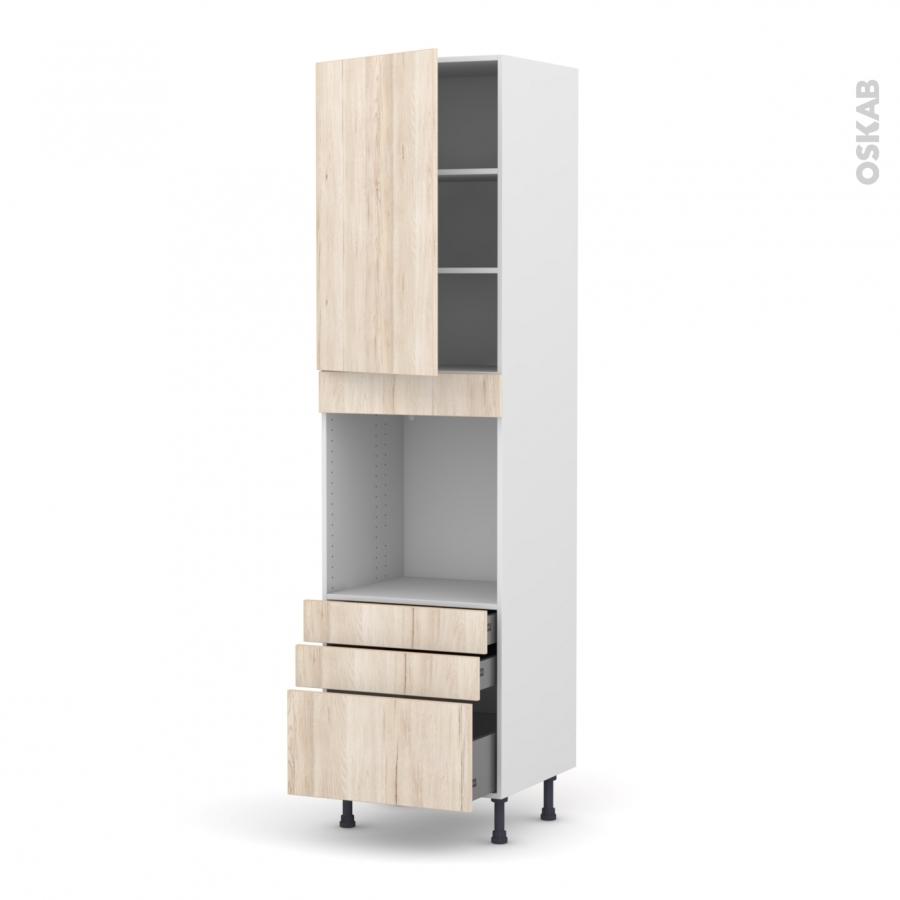 Colonne de cuisine n 2459 four encastrable niche 60 ikoro for Four porte tiroir
