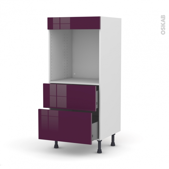colonne de cuisine n 58 four encastrable niche 60 keria aubergine 2 casseroliers l60 x h125 x. Black Bedroom Furniture Sets. Home Design Ideas