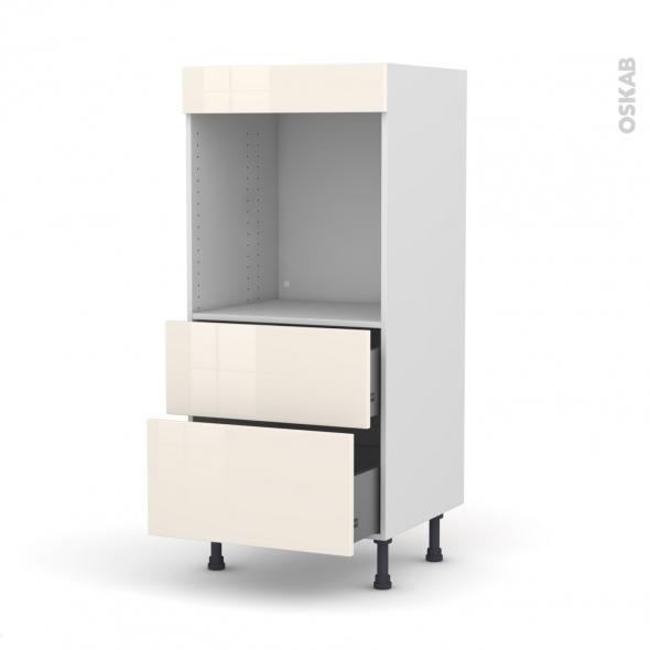 colonne de cuisine n 58 four encastrable niche 60 keria ivoire 2 casseroliers l60 x h125 x p58. Black Bedroom Furniture Sets. Home Design Ideas