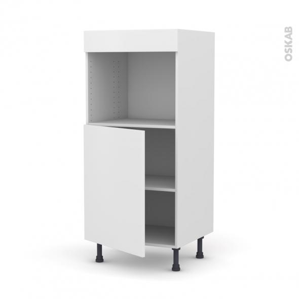colonne de cuisine n 21 four encastrable niche 45 ginko blanc 1 porte l60 x h125 x p58 cm oskab. Black Bedroom Furniture Sets. Home Design Ideas