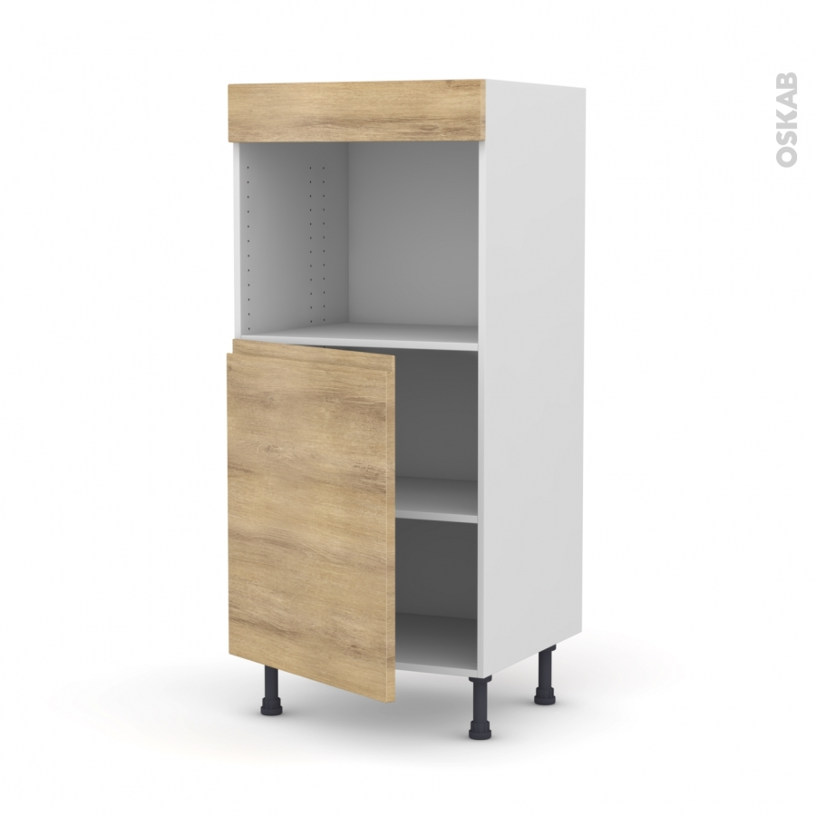 colonne de cuisine n 21 four encastrable niche 45 ipoma ch ne naturel 1 porte l60 x h125 x p58. Black Bedroom Furniture Sets. Home Design Ideas