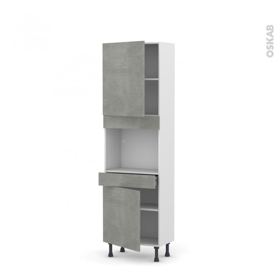 colonne de cuisine n 2156 four encastrable niche 45 fakto. Black Bedroom Furniture Sets. Home Design Ideas