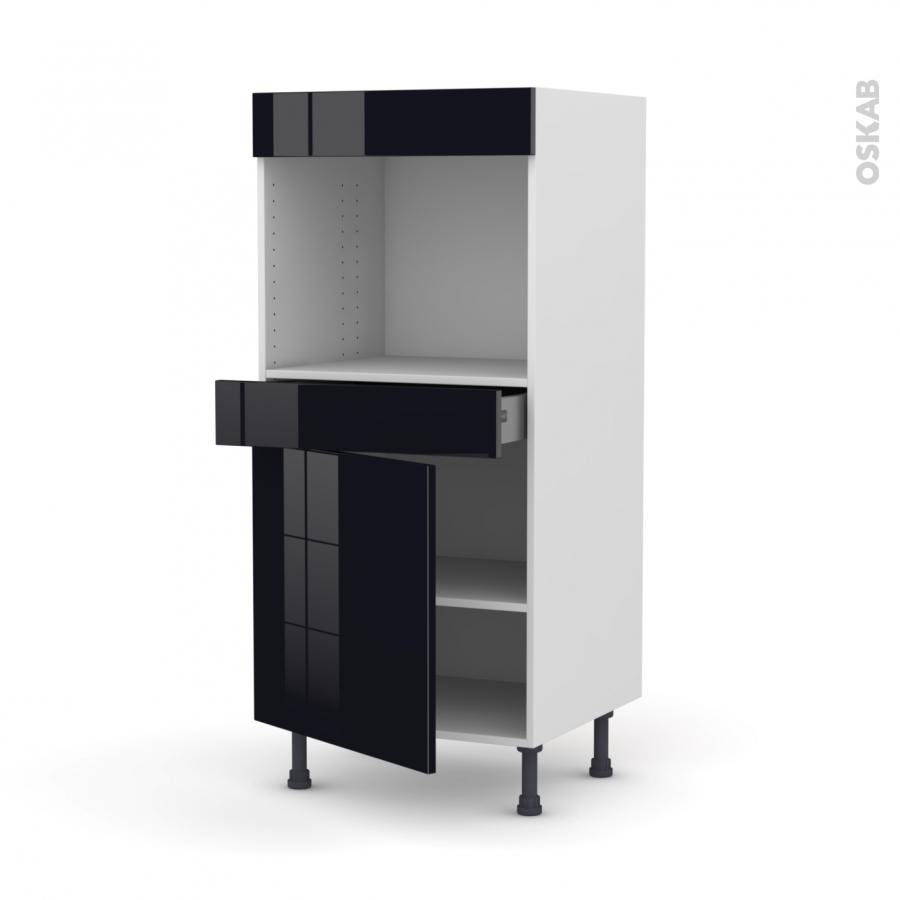 Colonne de cuisine n 56 four encastrable niche 45 keria - Four encastrable porte tiroir ...