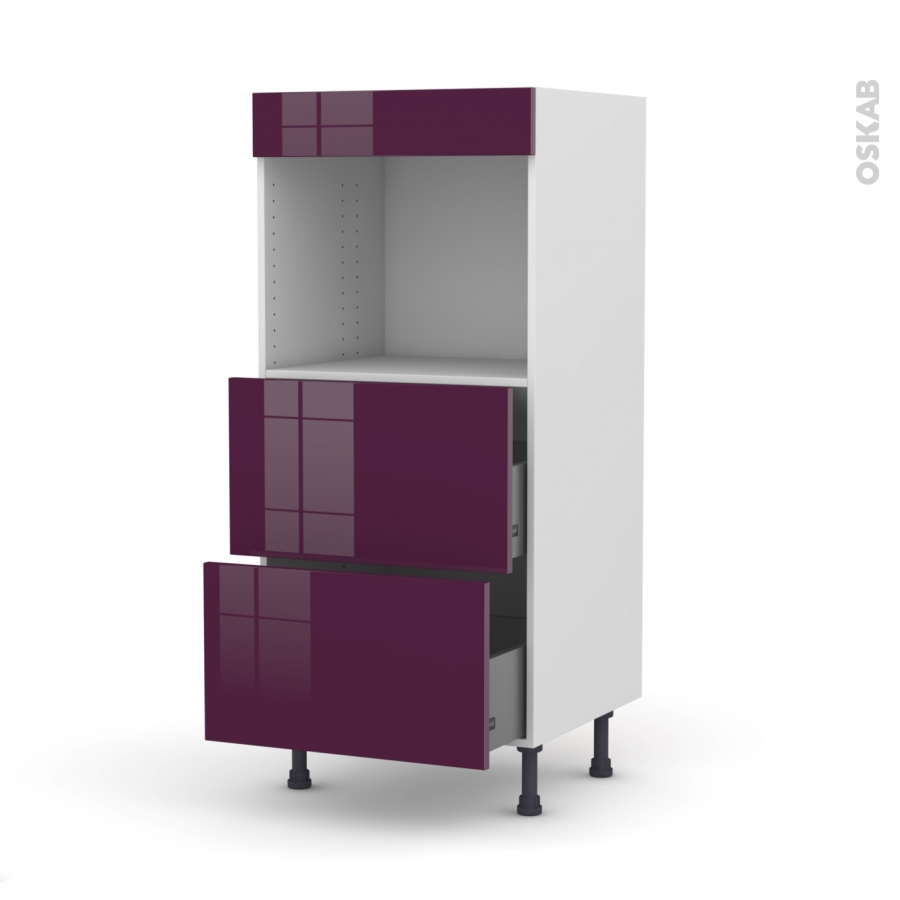 colonne de cuisine n 57 four encastrable niche 45 keria aubergine 2 casseroliers l60 x h125 x. Black Bedroom Furniture Sets. Home Design Ideas
