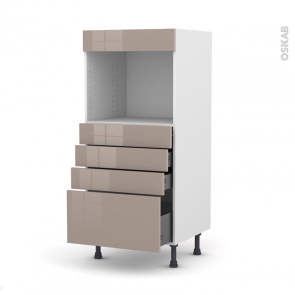 colonne de cuisine n 59 four encastrable niche 45 keria moka 4 tiroirs l60 x h125 x p58 cm oskab. Black Bedroom Furniture Sets. Home Design Ideas