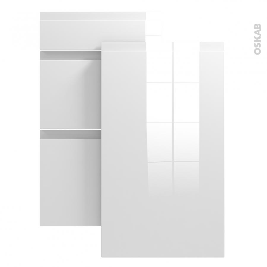 Echantillon meuble de cuisine ipoma blanc brillant l7xh14 Meuble de cuisine blanc brillant