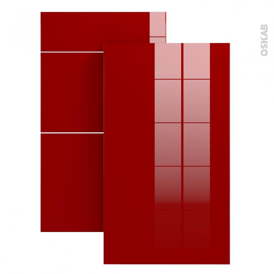 Echantillon meuble de salle de bains stecia rouge l7xh14 for Cuisine oskab