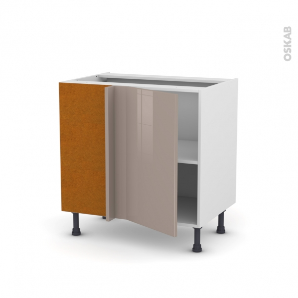 meuble de cuisine angle bas r versible keria moka 1 porte n 19 l40 cm l80 x h70 x p58 cm oskab. Black Bedroom Furniture Sets. Home Design Ideas
