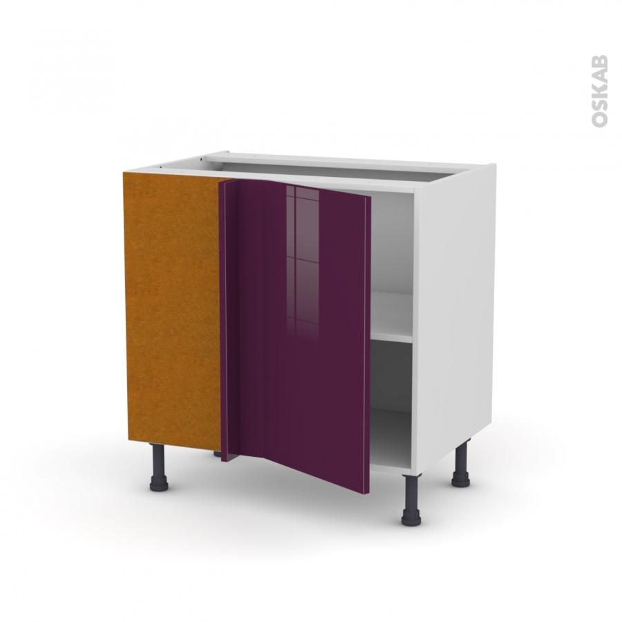meuble de cuisine angle bas r versible keria aubergine 1 porte n 19 l40 cm l80 x h70 x p58 cm. Black Bedroom Furniture Sets. Home Design Ideas