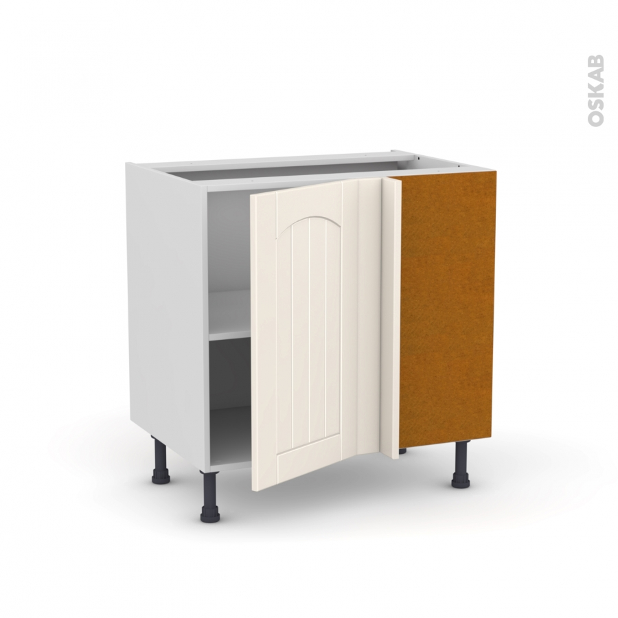 Meuble angle bas 1 porte n 19 l40 l80xh70xp58 droite silen for Meuble cuisine angle bas