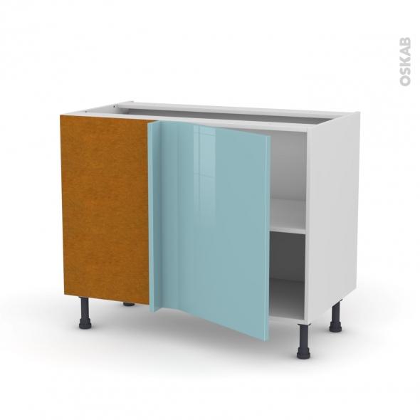 meuble de cuisine angle bas r versible keria bleu 1 porte n 20 l50 cm l100 x h70 x p58 cm oskab. Black Bedroom Furniture Sets. Home Design Ideas