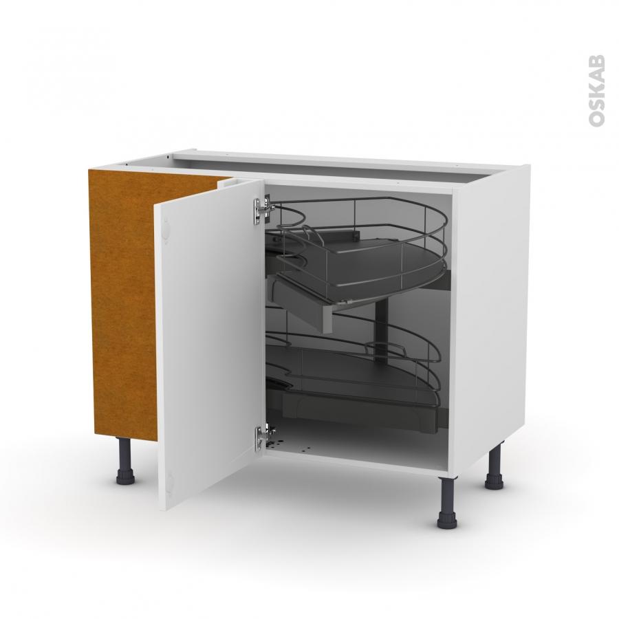 Meuble de cuisine angle bas ginko blanc demi lune - Quincaillerie meuble cuisine ...