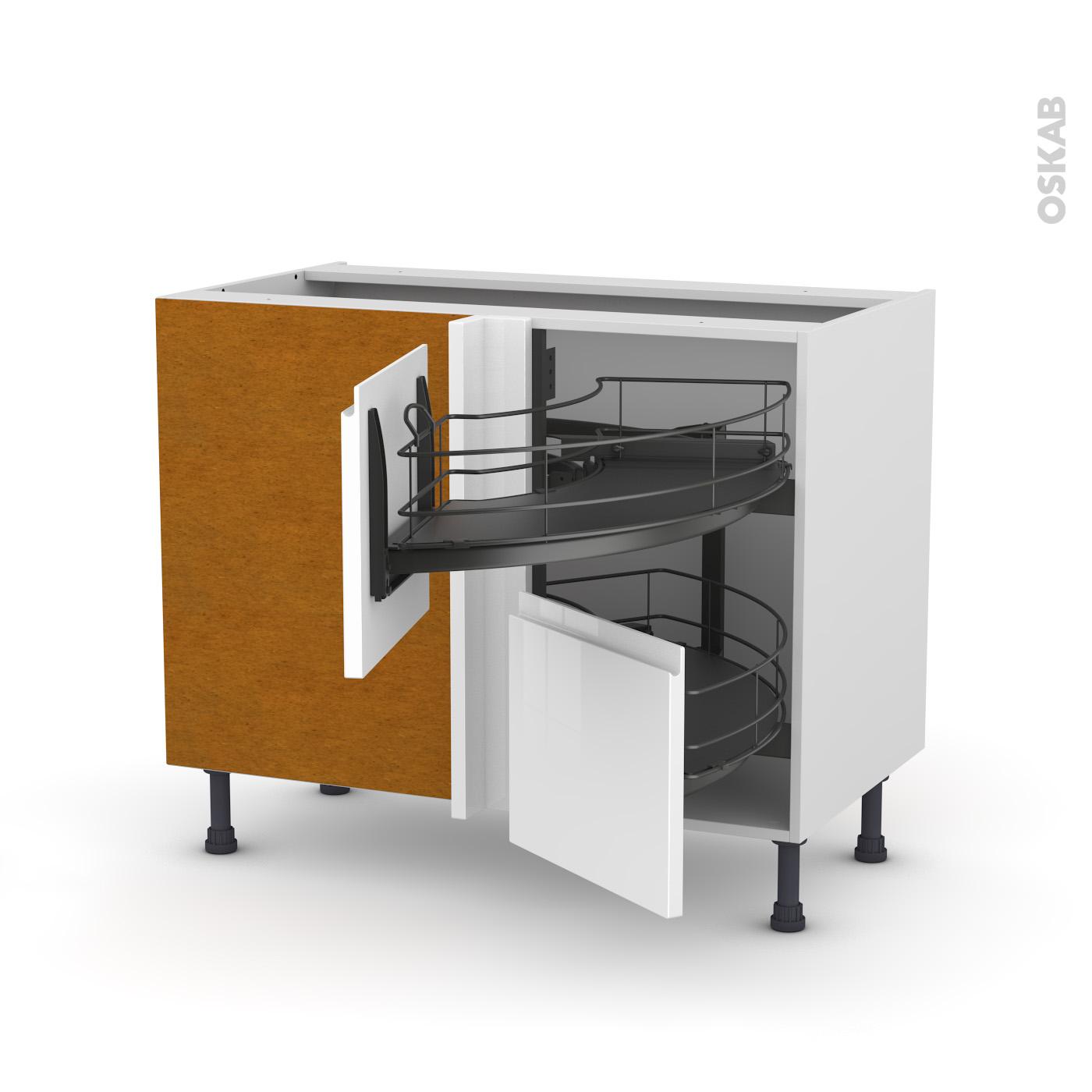 Meuble cuisine angle bas top ctb u meuble bas de cuisine Demi lune meuble cuisine