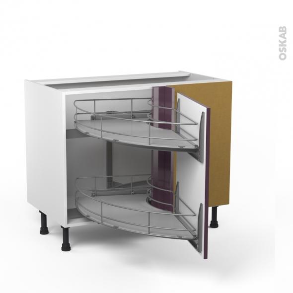 meuble angle bas demi lune coulissant epoxy tirant droit 1 porte l50 l100xh70xp58 keria. Black Bedroom Furniture Sets. Home Design Ideas