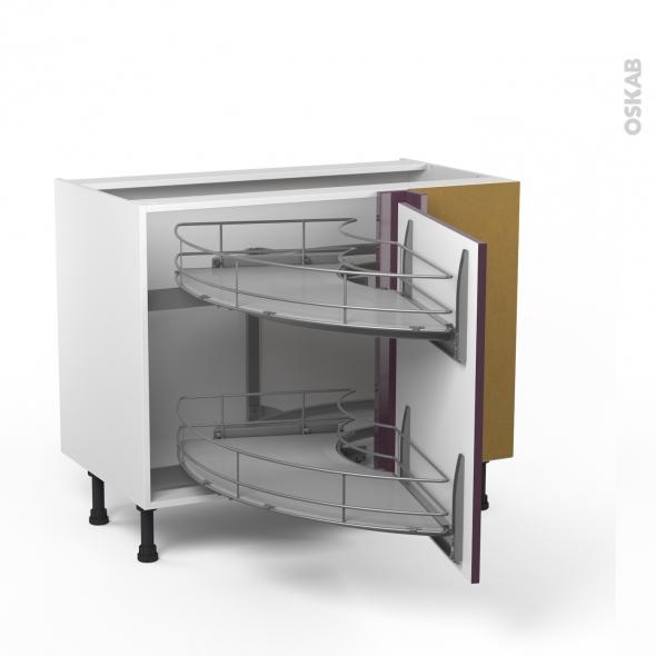 Meubles de cuisine meuble bas cuisine 100 cm blanc - Meuble bas cuisine porte coulissante ...