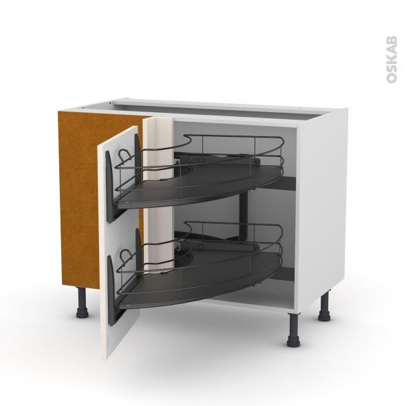 meuble de cuisine angle bas keria ivoire demi lune. Black Bedroom Furniture Sets. Home Design Ideas