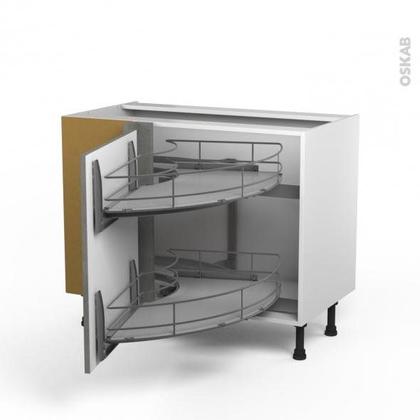 Fakto b ton meuble angle bas demi lune coulissant epoxy Demi lune meuble cuisine