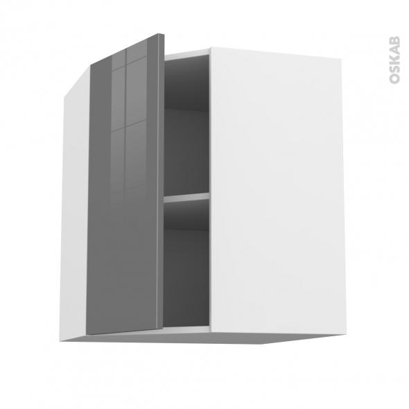 Meuble de cuisine angle haut stecia gris 1 porte n 19 l40 for Modele porte cuisine