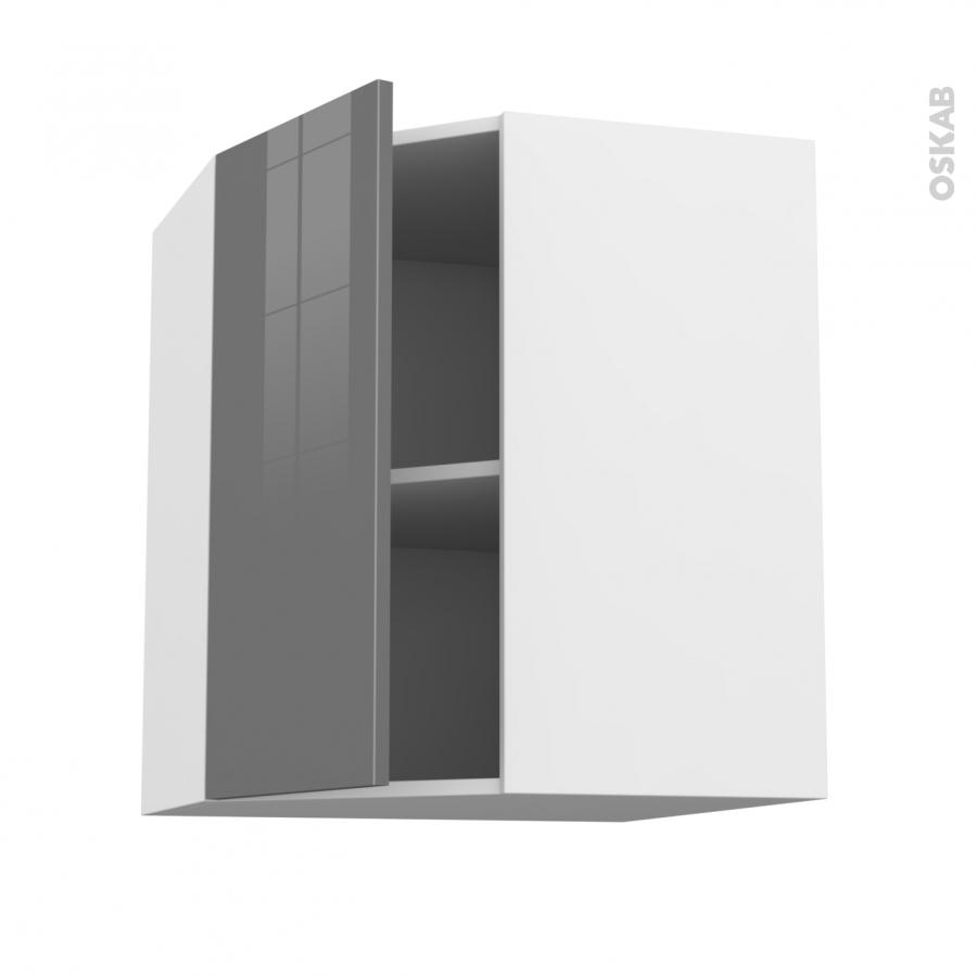 Meuble de cuisine angle haut stecia gris 1 porte n 19 l40 for Porte cuisine 60 x 40