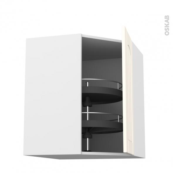silen ivoire meuble angle haut tourniquet 1 porte n 23 l40 l65xh92xp37 droite oskab. Black Bedroom Furniture Sets. Home Design Ideas