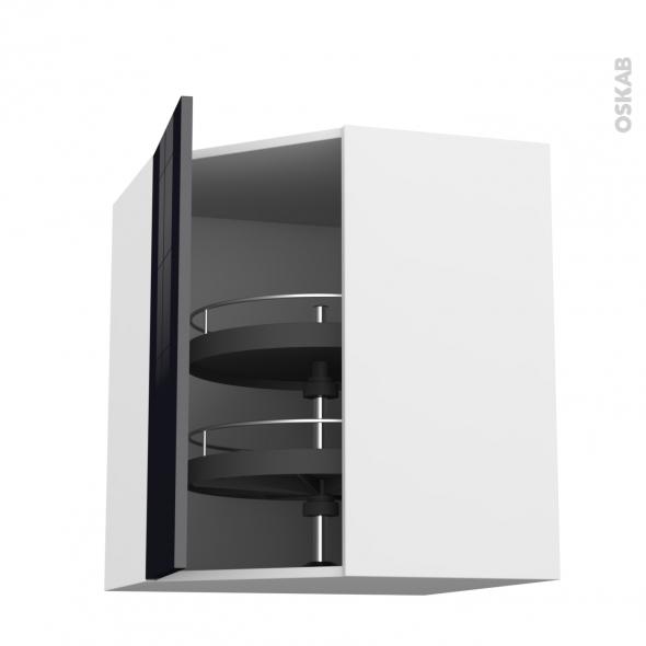 Keria noir meuble angle haut tourniquet 1 porte n 19 l40 for Modele meuble de cuisine