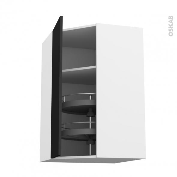 ginko noir meuble angle haut tourniquet 1 porte n 23 l40 l65xh92xp37 oskab. Black Bedroom Furniture Sets. Home Design Ideas