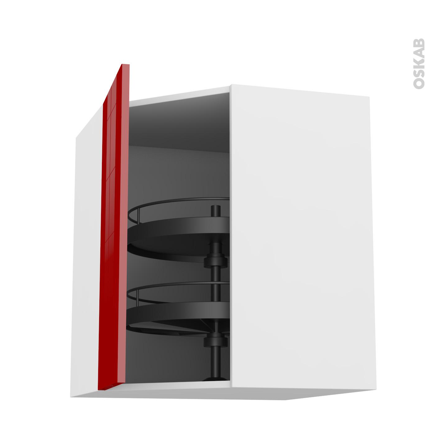 meuble de cuisine angle haut stecia rouge tourniquet porte n l cm l x h x p cm oskab with. Black Bedroom Furniture Sets. Home Design Ideas