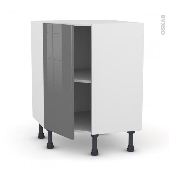 Meuble de cuisine angle bas stecia gris 1 porte n 19 l40 - Vide sanitaire meuble cuisine ...