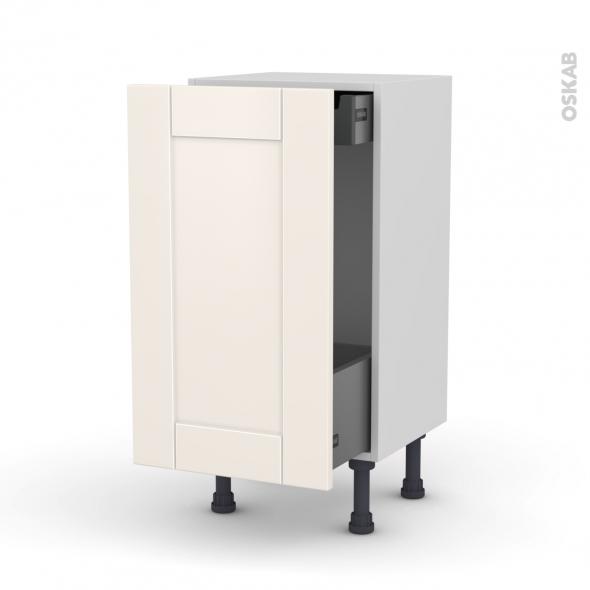 meuble de cuisine bas coulissant filipen ivoire 1 porte 1 tiroir l 39 anglaise l40 x h70 x p37 cm. Black Bedroom Furniture Sets. Home Design Ideas