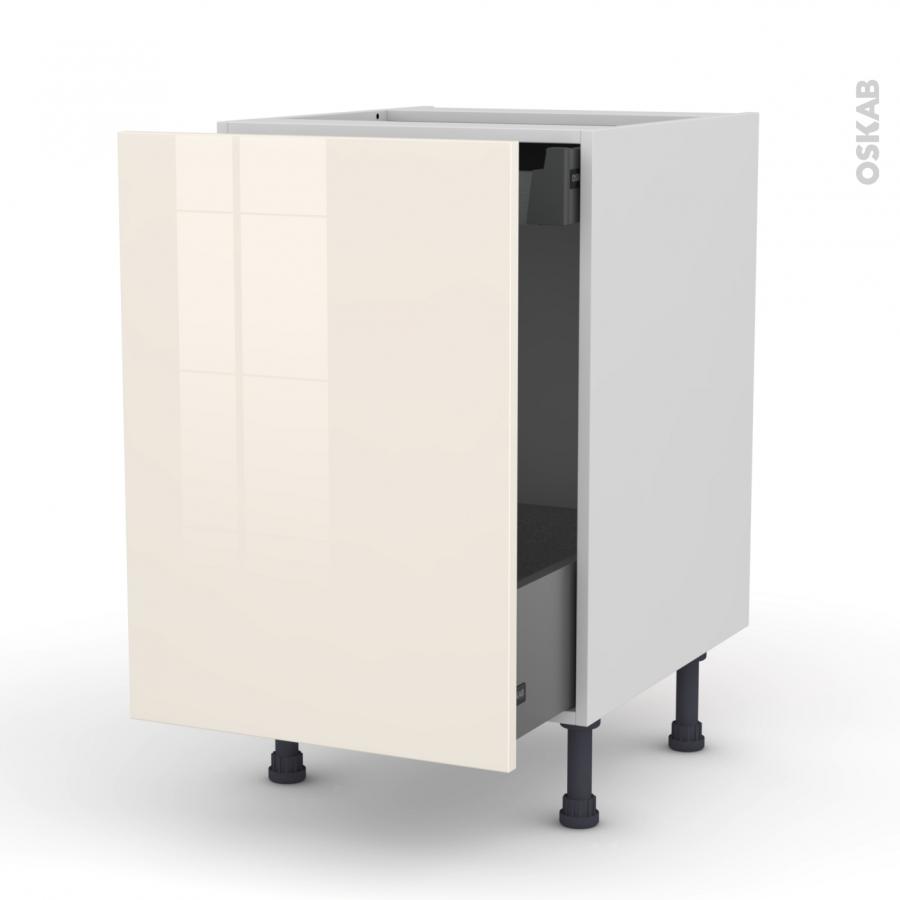 meuble de cuisine bas coulissant keria ivoire 1 porte 1 tiroir l 39 anglaise l50 x h70 x p58 cm. Black Bedroom Furniture Sets. Home Design Ideas