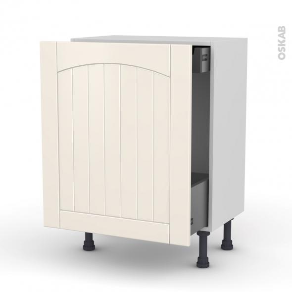 meuble bas coulissant 1 porte 1 tiroir anglaise l60xh70xp37 silen ivoire oskab. Black Bedroom Furniture Sets. Home Design Ideas