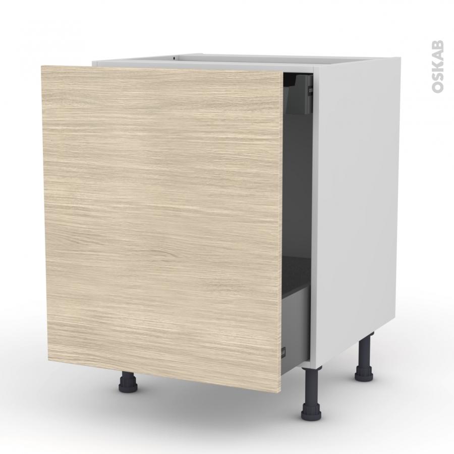 meuble de cuisine bas coulissant stilo noyer blanchi 1 porte 1 tiroir l 39 anglaise l60 x h70 x. Black Bedroom Furniture Sets. Home Design Ideas