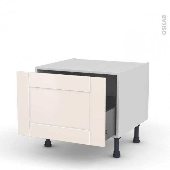 meuble de cuisine bas coulissant filipen ivoire 1 porte l60 x h41 x p58 cm oskab. Black Bedroom Furniture Sets. Home Design Ideas