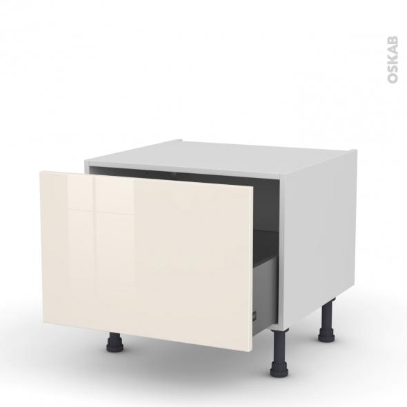 meuble de cuisine bas coulissant keria ivoire 1 porte l60 x h41 x p58 cm oskab. Black Bedroom Furniture Sets. Home Design Ideas