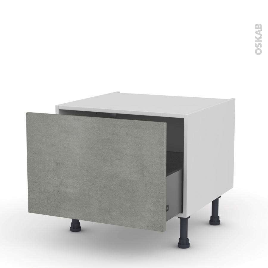 Meuble de cuisine bas coulissant fakto b ton 1 porte l60 x for Porte cuisine 60 x 90