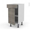 Range couverts tiroir l40 cm anthracite avec s parateurs for Separateur de tiroir de cuisine reglable