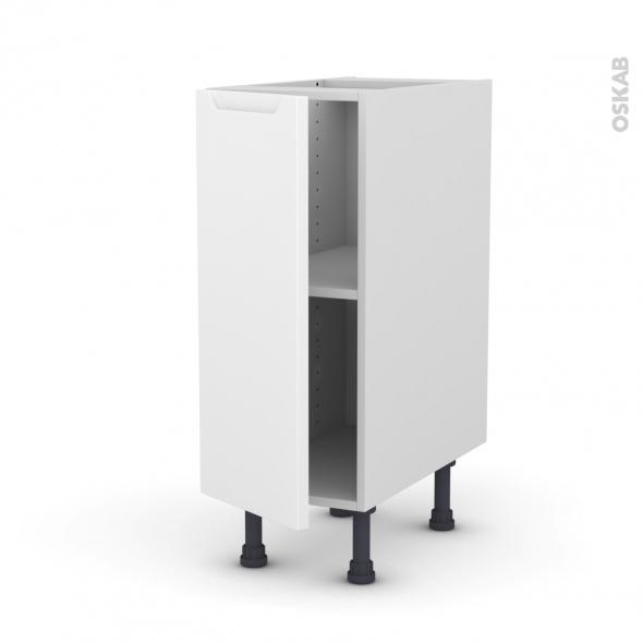 Meuble de cuisine bas pima blanc 1 porte l30 x h70 x p58 for Cuisine 3d oskab