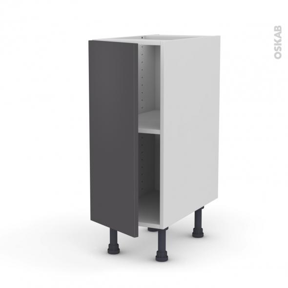 Meuble de cuisine bas ginko gris 1 porte l30 x h70 x p58 - Meuble bas cuisine 30 cm largeur ...