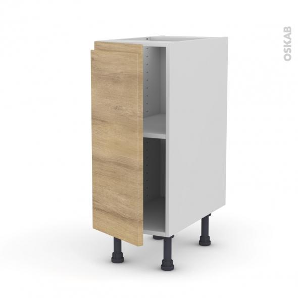 Ipoma ch ne naturel meuble bas cuisine 1 porte l30xh70xp58 for Meuble porte fusils chene prix