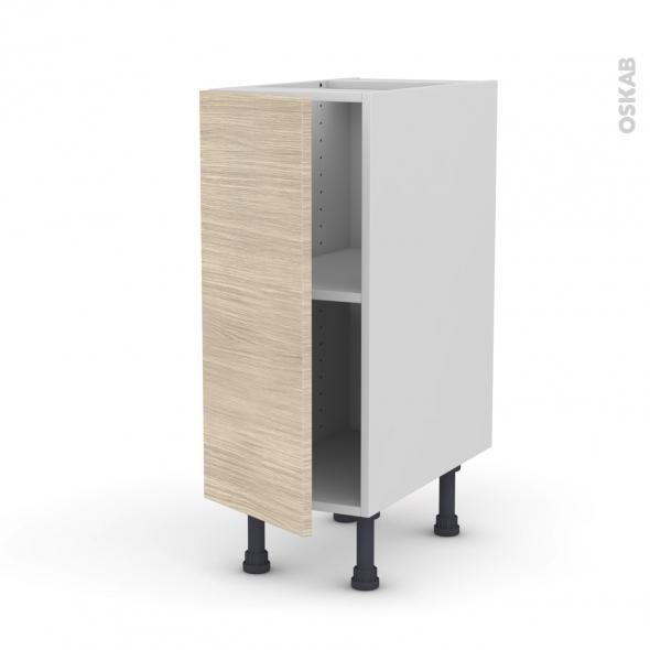 meuble de cuisine bas stilo noyer blanchi 1 porte l30 x h70 x p58 cm oskab. Black Bedroom Furniture Sets. Home Design Ideas