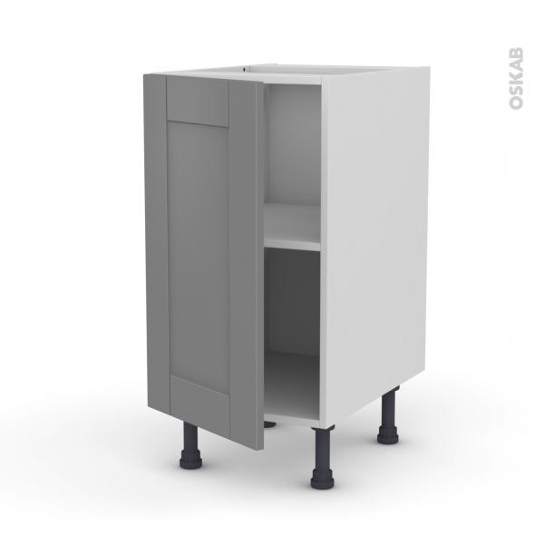 meuble de cuisine bas filipen gris 1 porte l40 x h70 x p58 cm oskab. Black Bedroom Furniture Sets. Home Design Ideas