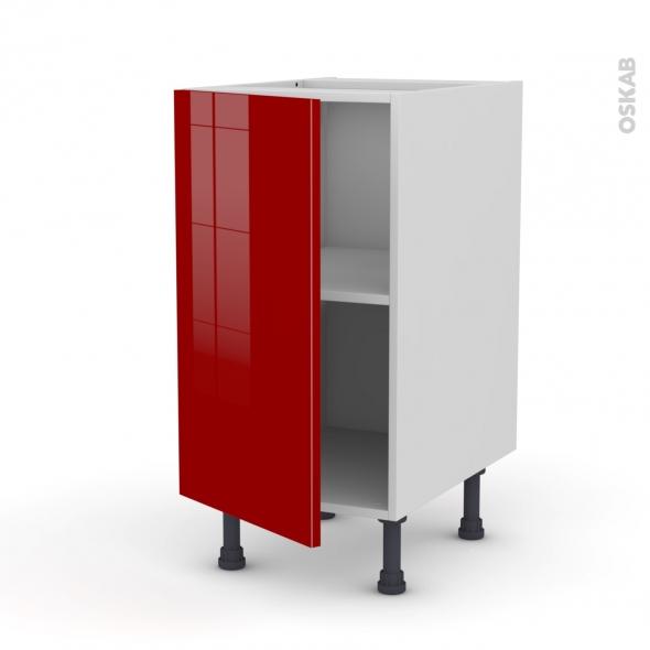 meuble de cuisine bas stecia rouge 1 porte l40 x h70 x p58. Black Bedroom Furniture Sets. Home Design Ideas