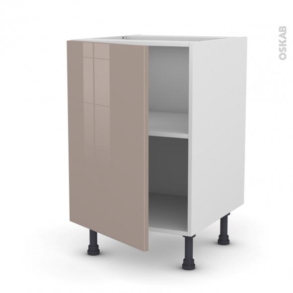 meuble de cuisine bas keria moka 1 porte l50 x h70 x p58 cm oskab. Black Bedroom Furniture Sets. Home Design Ideas