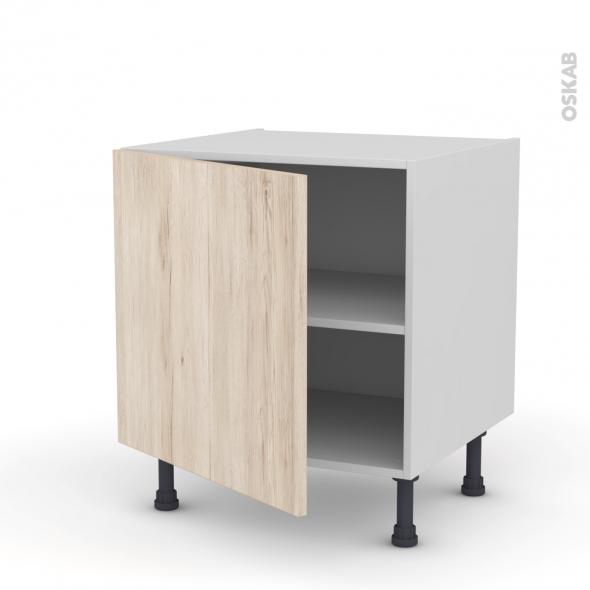 Meuble de cuisine bas ikoro ch ne clair 1 porte l60 x h57 for Porte cuisine chene