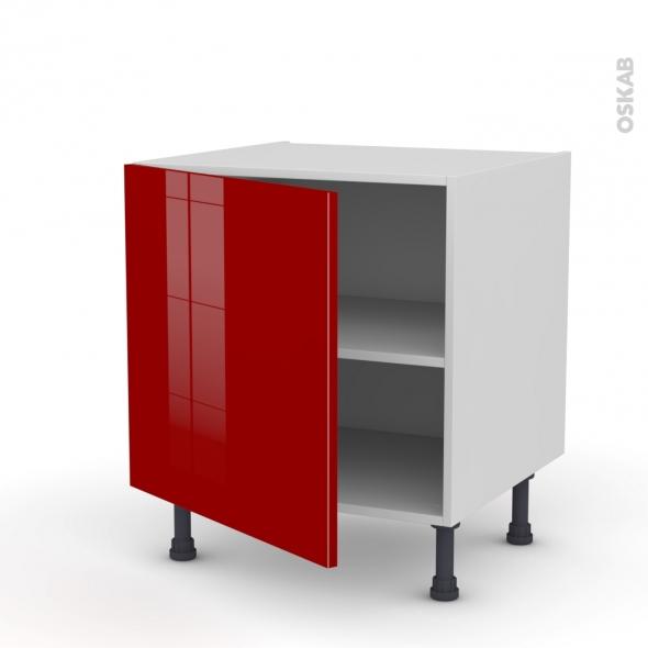 Meuble de cuisine bas stecia rouge 1 porte l60 x h57 x p58 for Meuble de cuisine modele